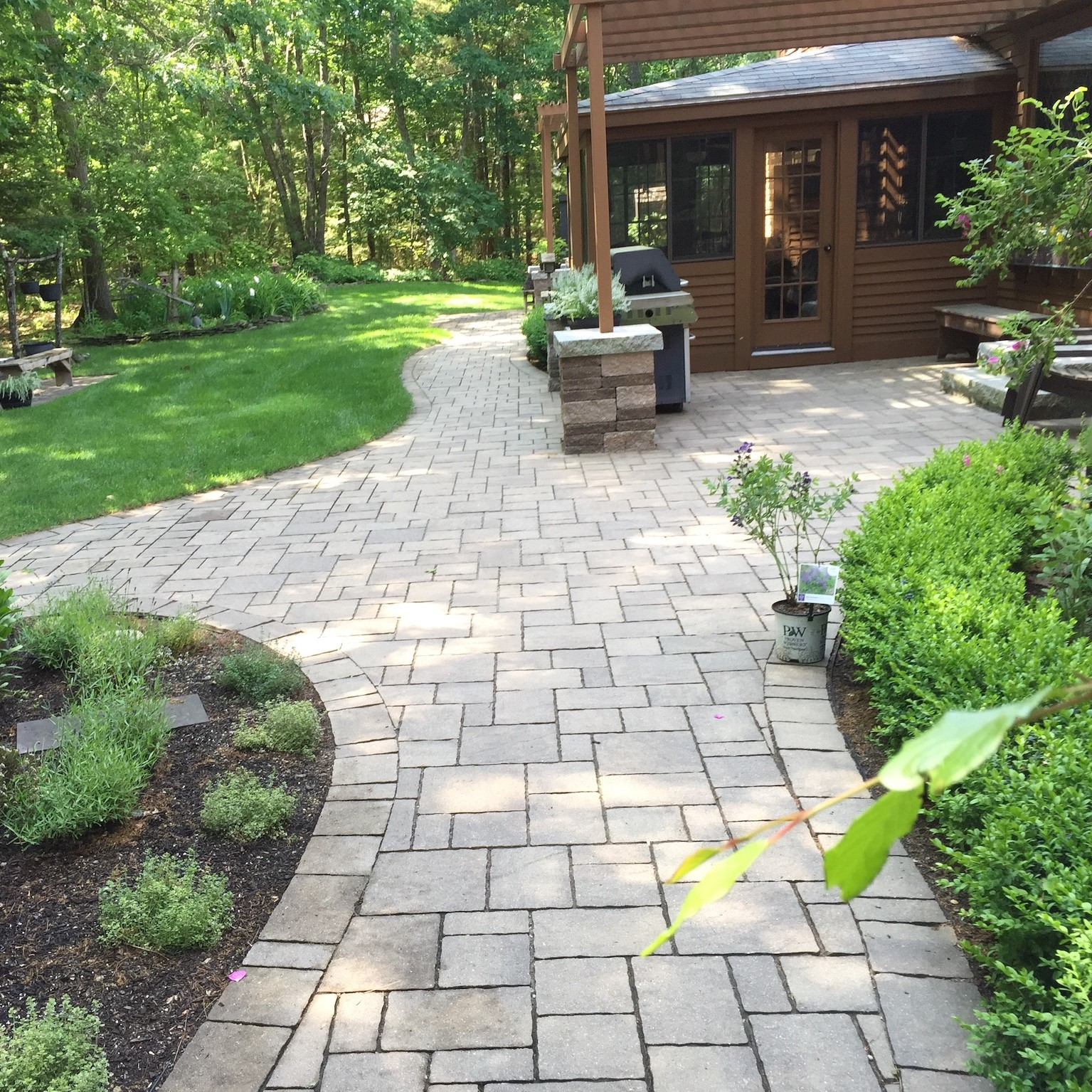 Stone Walkway Masonry Service in Windham New Hampshire