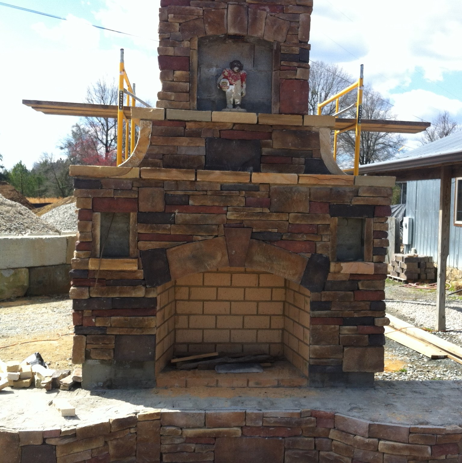 Outdoor Fireplace Masonry Services in Monroe North Carolina