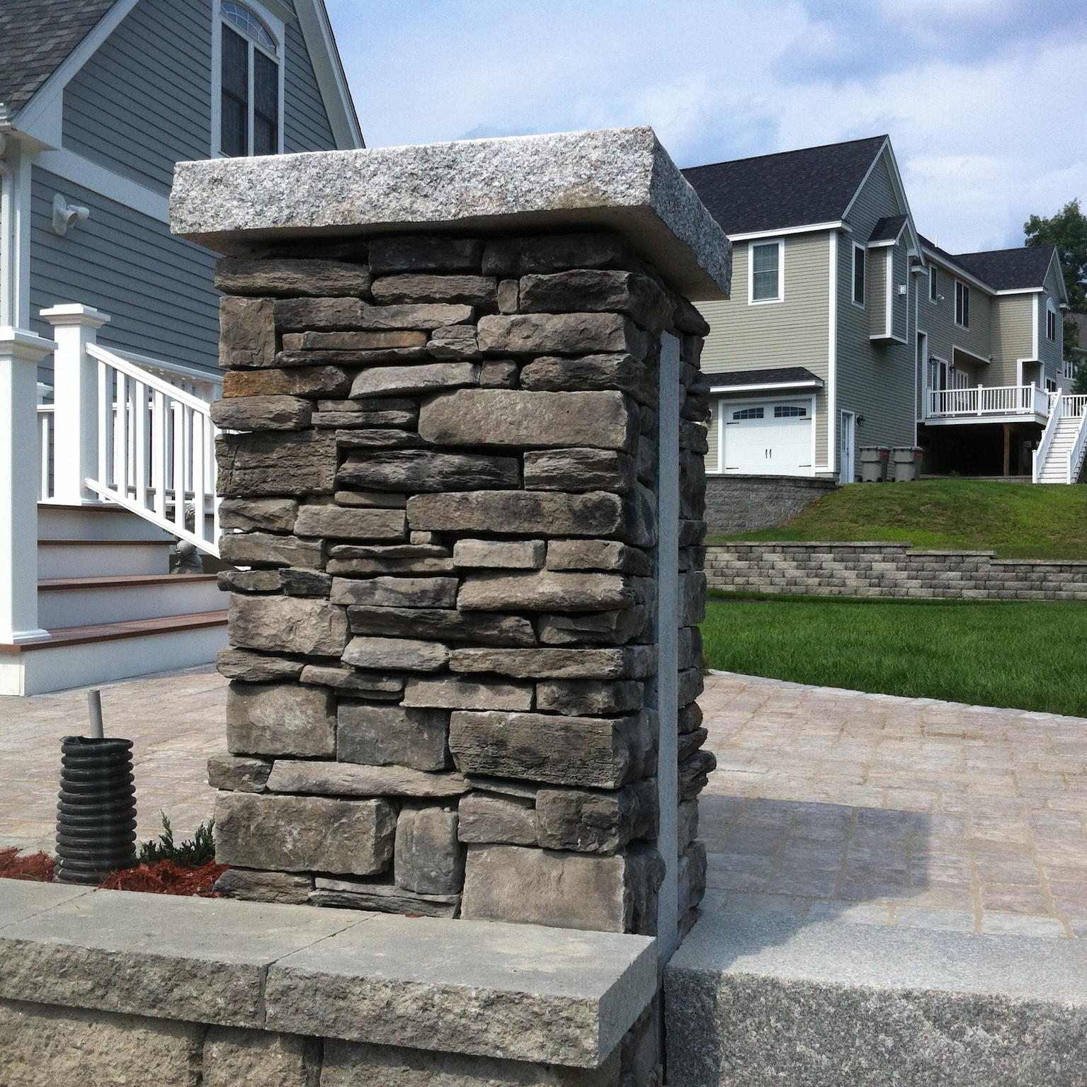 Stone Pillar Patio in Massachusetts