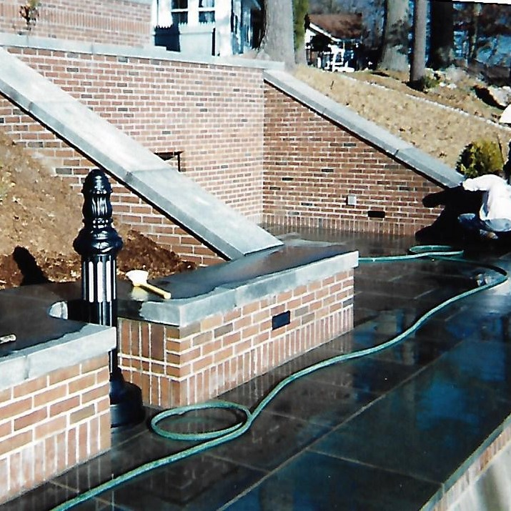 Brick and Stone Pool Patio Masonry Service in New Hampshire
