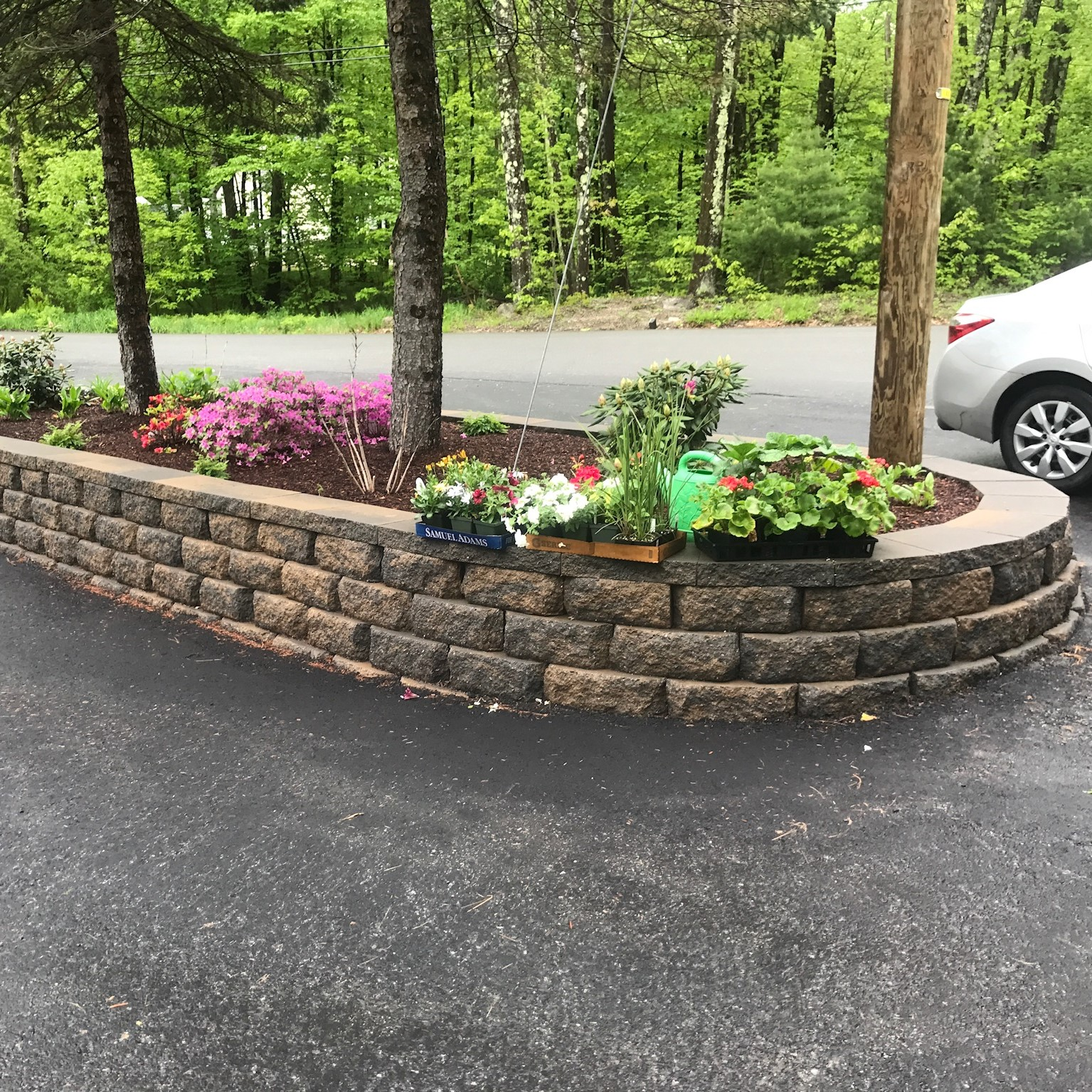 Garden Wall Masonry Service in New Ipswich New Hampshire