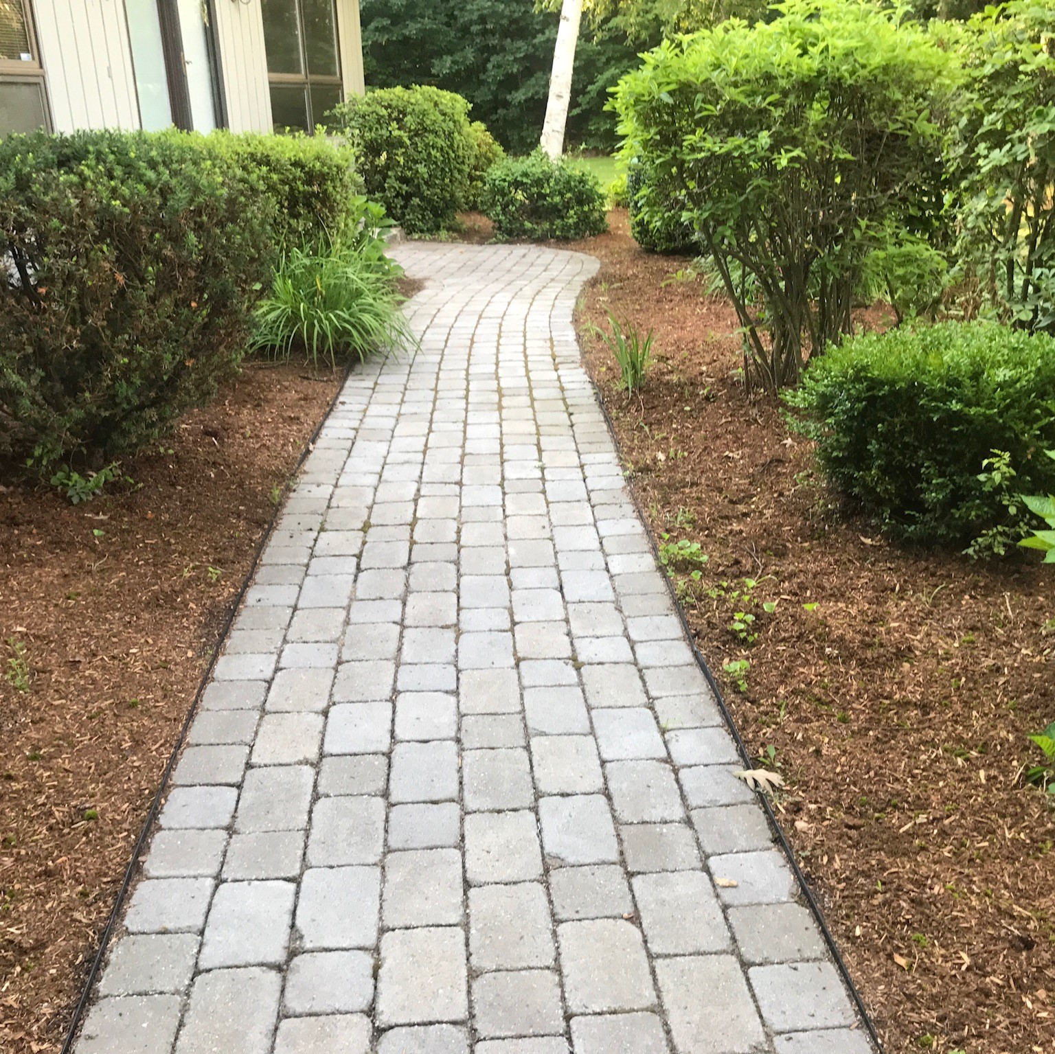 Walkway with Pavers Masonry Service in Hollis New Hampshire
