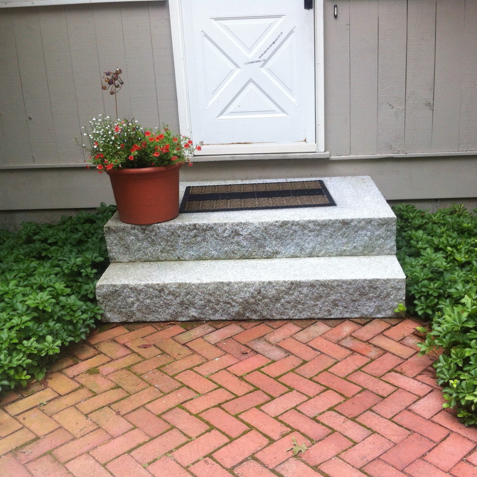 Brick Walkway and Stone Steps in Massachusetts