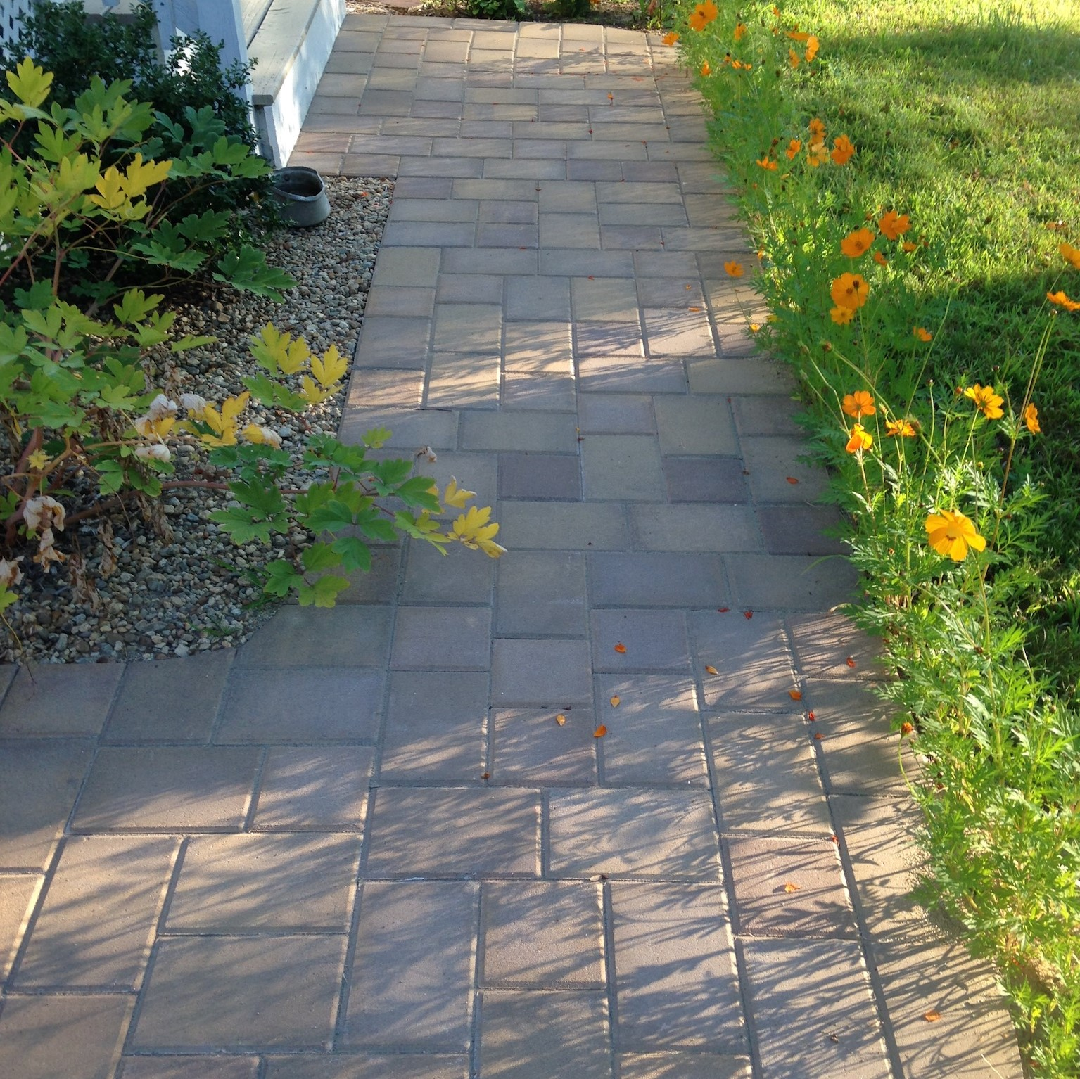 Residential masonry in New Hampshire new stone walkway